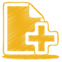 yellow-document-plus-icon